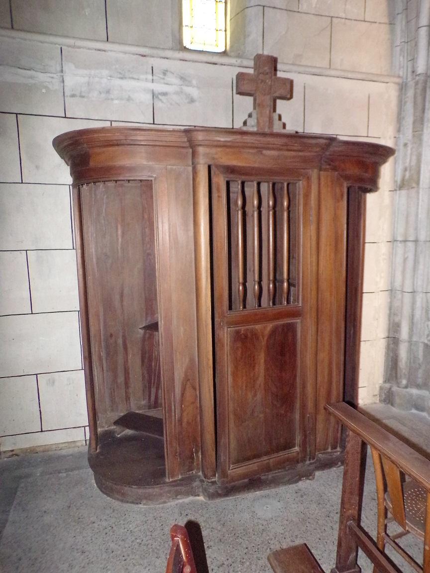 Javrezac - L'église Saint-Pierre - Le confessionnal (5 mars 2019)