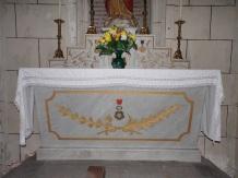 Javrezac - L'église Saint-Pierre - L'autel de la chapelle du Sacré Coeur (5 mars 2019)