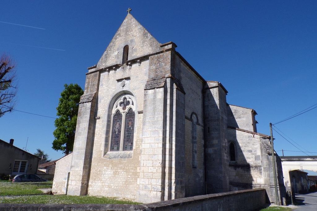 Angeac-Champagne – L'église Saint-Vivien (7 avril 2017)