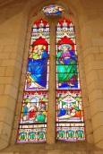 Gensac-la-Pallue – L'église Saint-Martin – Le vitrail 'La Sainte Famille' (8 août 2017)