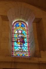 Gensac-la-Pallue – L'église Saint-Martin – Le vitrail 'Sainte Jeanne d'Arc' (8 août 2017)