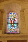 Gensac-la-Pallue – L'église Saint-Martin – Le vitrail 'Saint Martin' (8 août 2017)