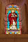 Gensac-la-Pallue – L'église Saint-Martin – Le vitrail 'Marie de Magdala' (8 août 2017)