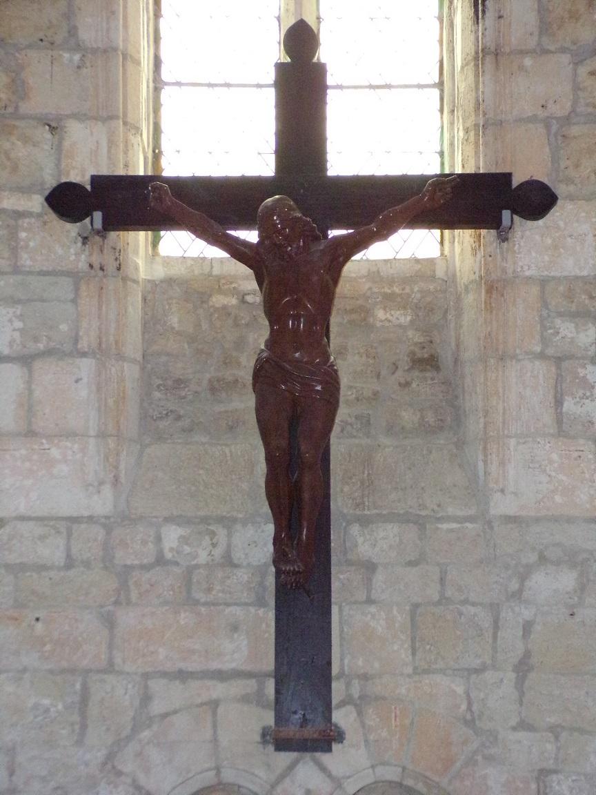 Germignac - L'église Saint-Pierre - Le Crucifix (17 juillet 2018)