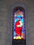 Germignac - L'église Saint-Pierre - Un vitrail (17 juillet 2018)