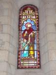Germignac - L'église Saint-Pierre - Le vitrail 'Saint Mathieu' (17 juillet 2018)