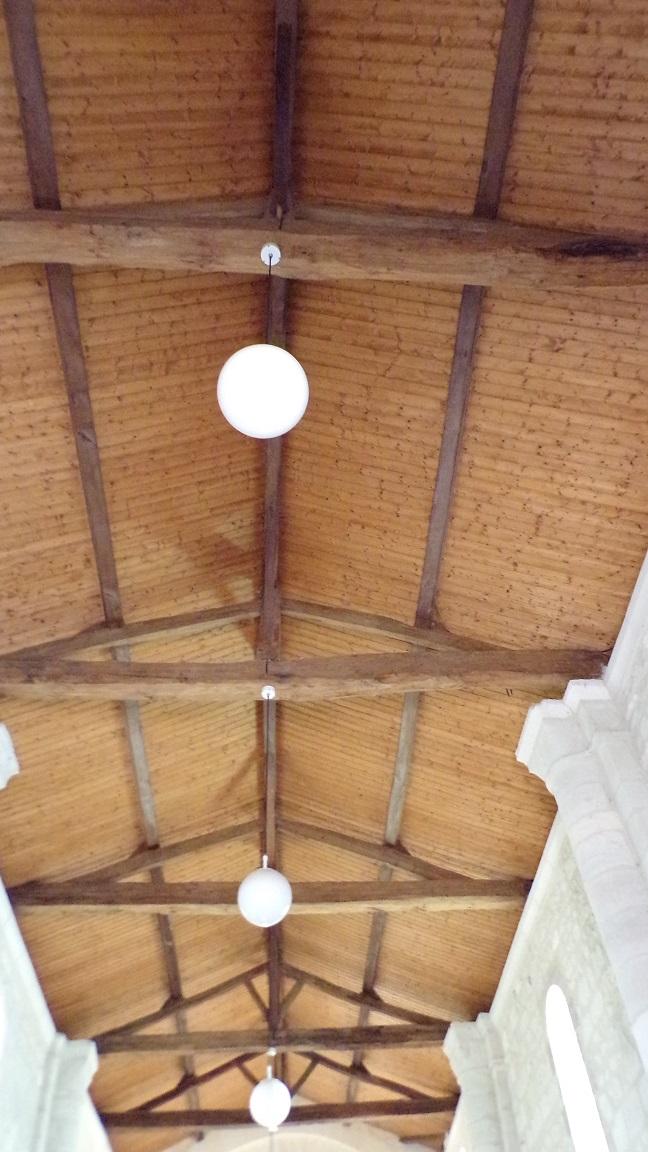 Gimeux - L'église Saint-Germain - Le plafond (5 avril 2018)
