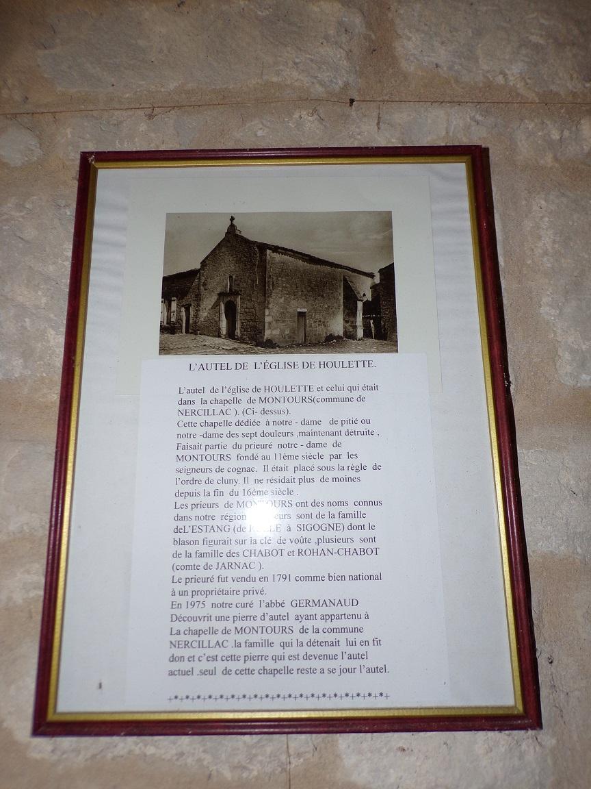 Houlette - L'église Saint Martin - Origine de l'autel (19 juillet 2020)