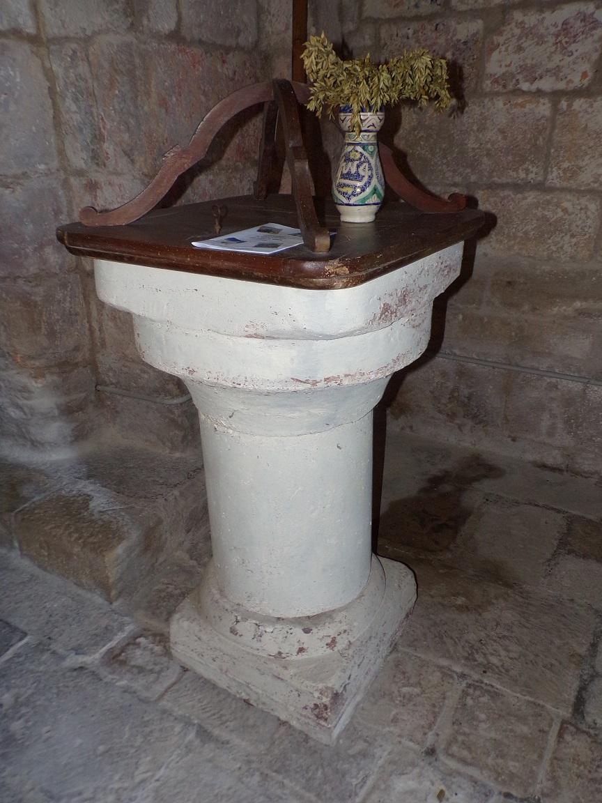 Houlette - L'église Saint Martin - Fonts baptismaux (19 juillet 2020)