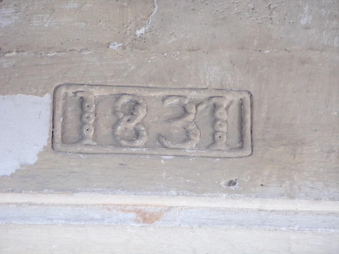 Houlette - L'église Saint Martin - Inscription '1831' (20 août 2018)