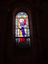 Jarnac - L'église Saint-Pierre - Le vitrail 'Saint Ludovic' (21 septembre 2016)