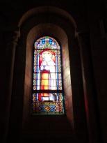 Jarnac - L'église Saint-Pierre - Le vitrail 'Sainte Joanna' (21 septembre 2016)