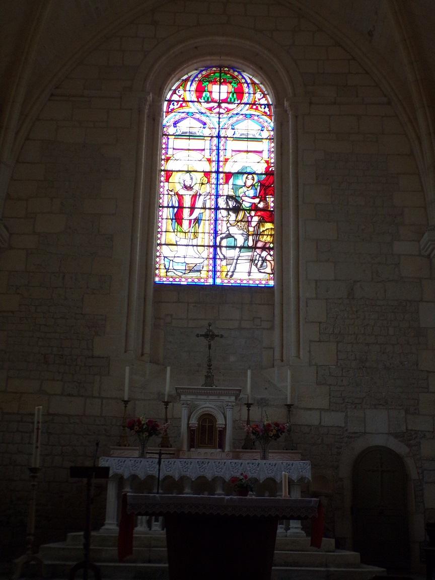 Juillac-le-Coq - L'église Saint-Martin - Le choeur (18 septembre 2016)