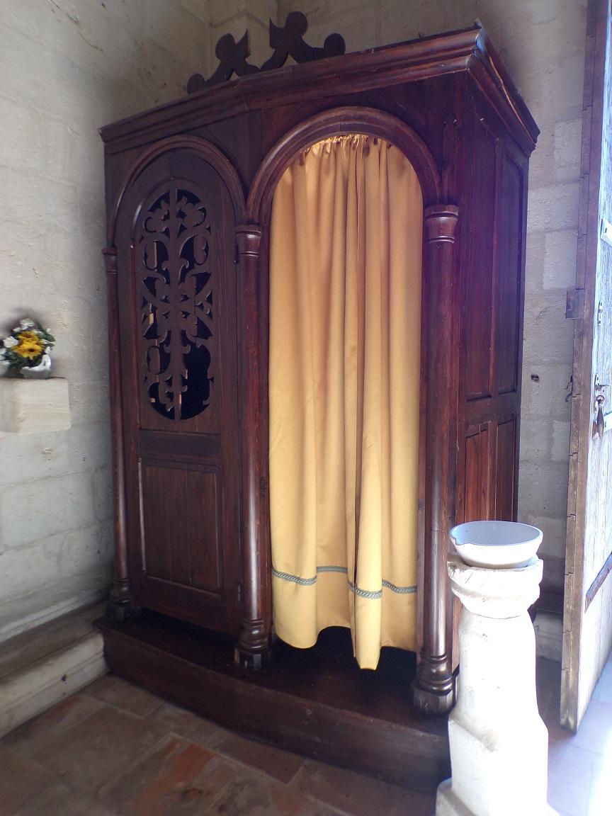 Le Seure - L'église Notre-Dame de l'Assomption - Le confessionnal (29 juin 2019)