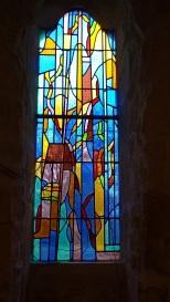 Nercillac - L'église Saint-Germain - Le vitrail créé par F et J Moreau Pons 1989 (10 avril 2018)