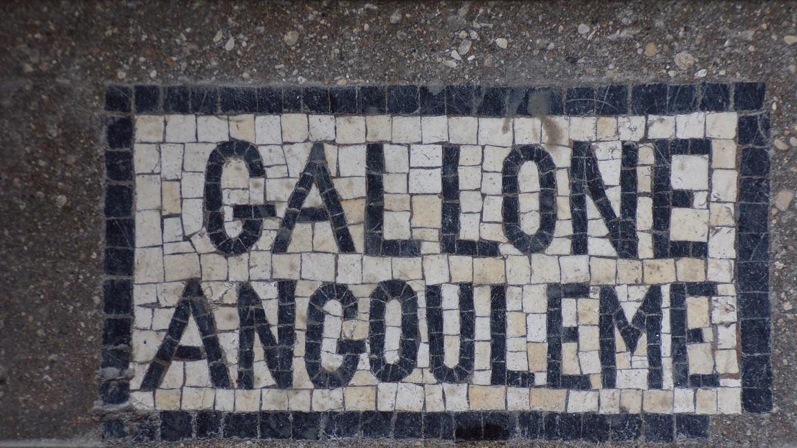 Nercillac - L'église Saint-Germain - Inscription sur le sol 'Gallone Angouleme' (10 avril 2018)