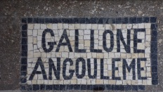 Nercillac - L'église Saint-Germain - Inscription sur le sol 'Gallone Angouleme' (10 avril 2018)