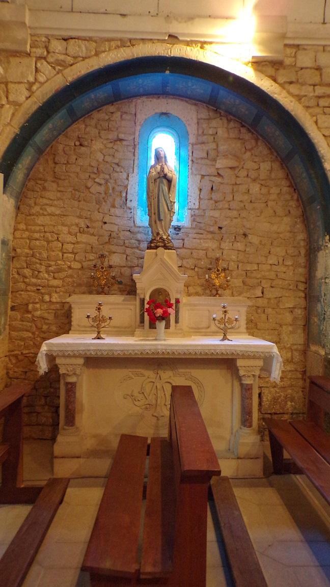 Réparsac - L'église Saint-Pierre - La chapelle Notre Dame de Lourdes (10 avril 2018)
