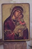 Lignières-Sonneville - L'église Notre-Dame - Tableau 'Vierge et l'Enfant' (1 novembre 2017)