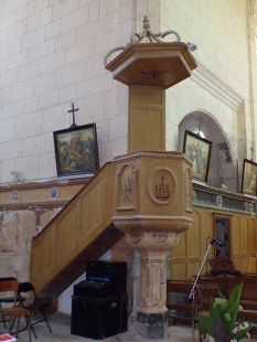 Lonzac - L'église Notre-Dame - La chaire (8 juillet 2018)
