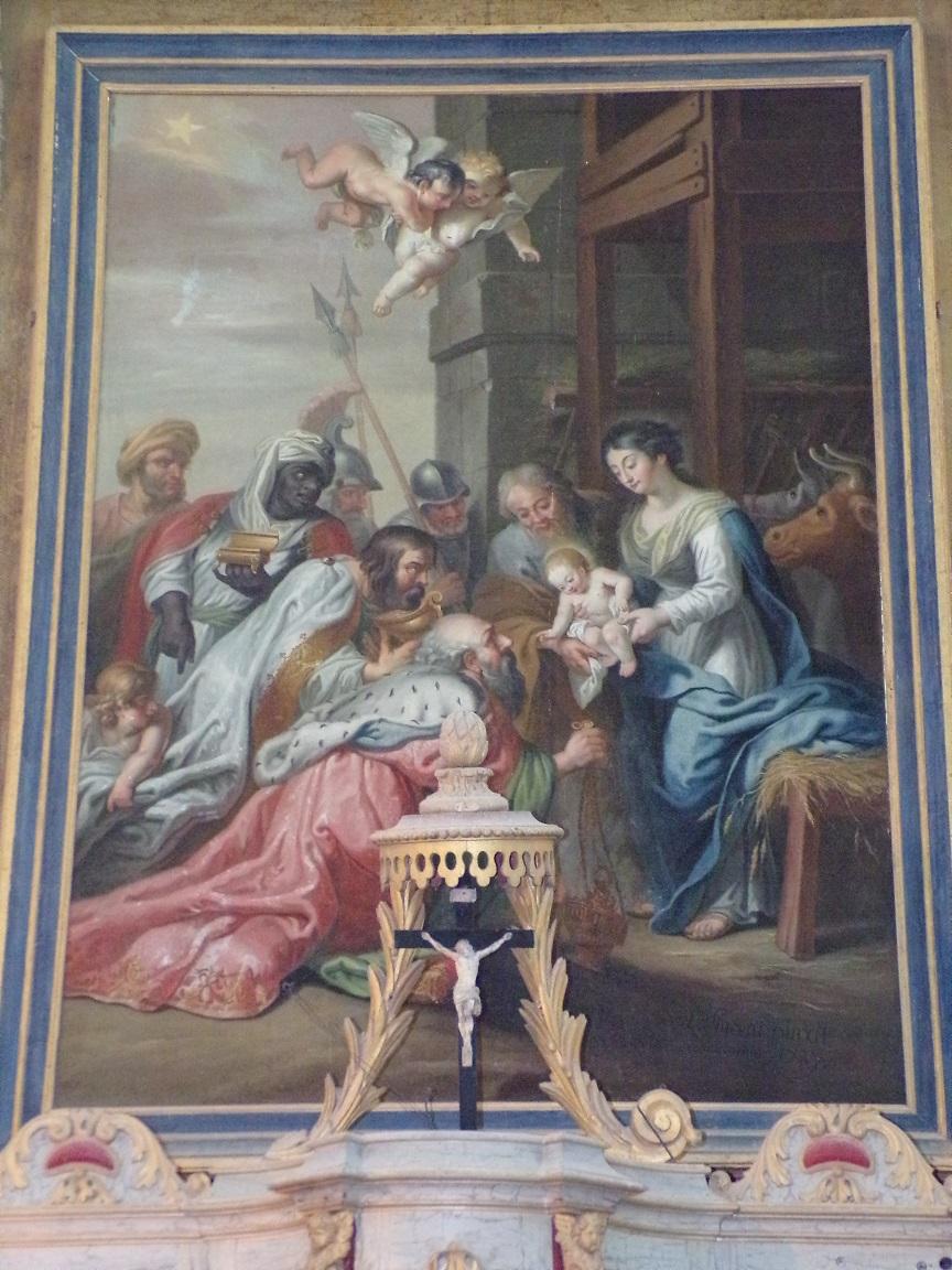 Lonzac - L'église Notre-Dame - Le tableau de l'abside (8 juillet 2018)
