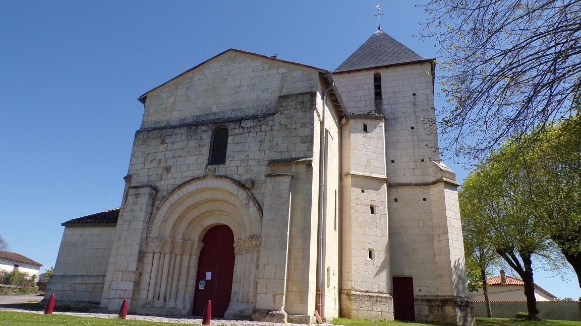 Louzac - L'église Saint-Martin (18 avril 2018)