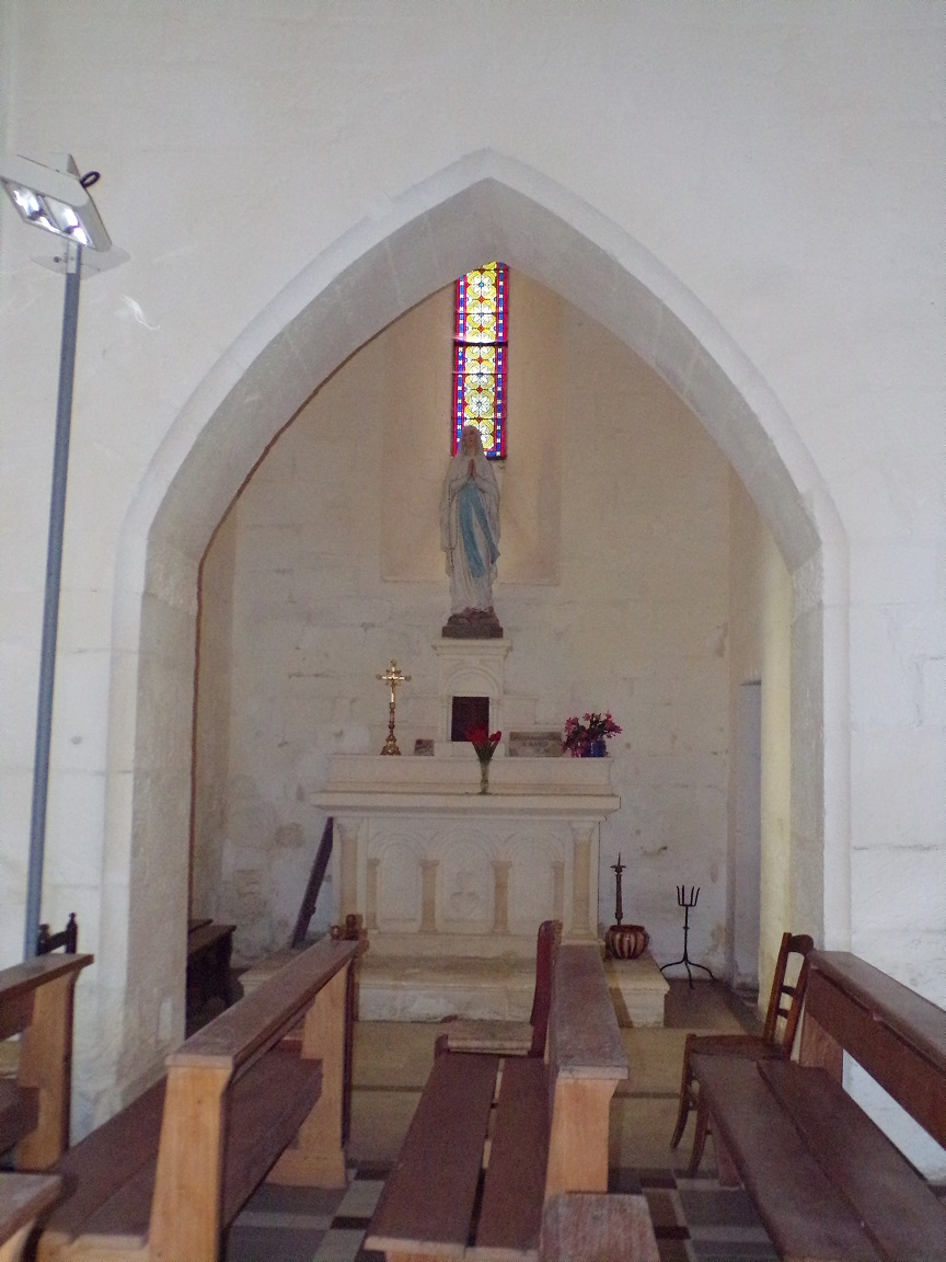 Louzac - L'église Saint-Martin - La chapelle 'Notre-Dame' (6 juin 2018)