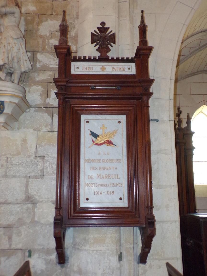 Mareuil - L'église Notre-Dame - Dieu Patrie (21 août 2018)