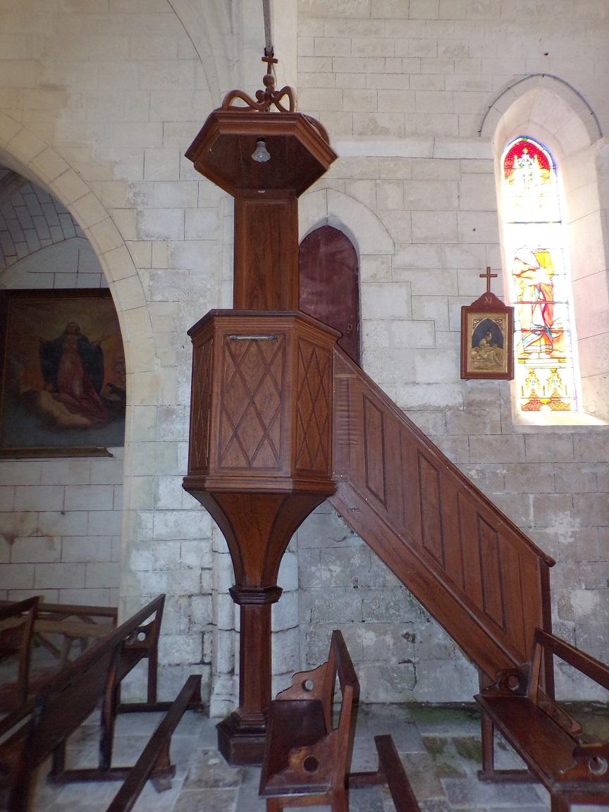 Mareuil - L'église Notre-Dame - La chaire (21 août 2018)