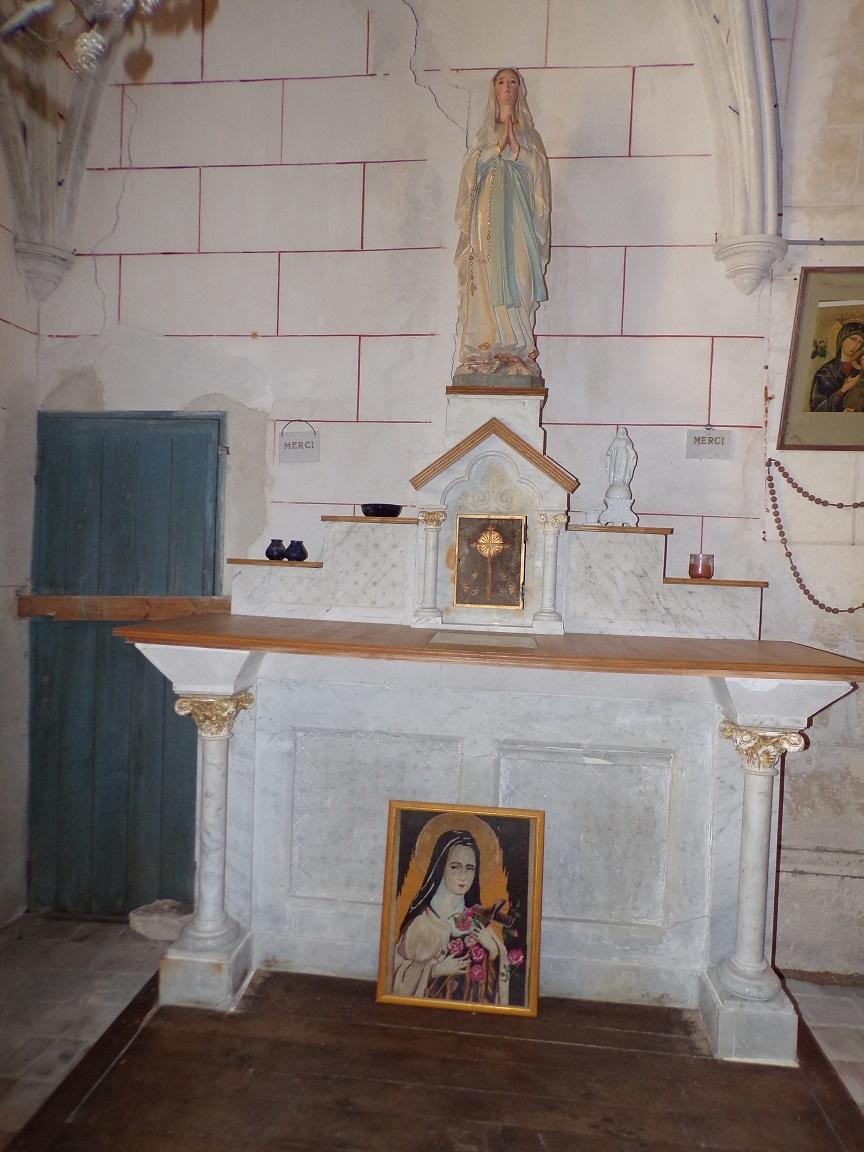 Mareuil - L'église Notre-Dame - Notre Dame de Lourdes (21 août 2018)