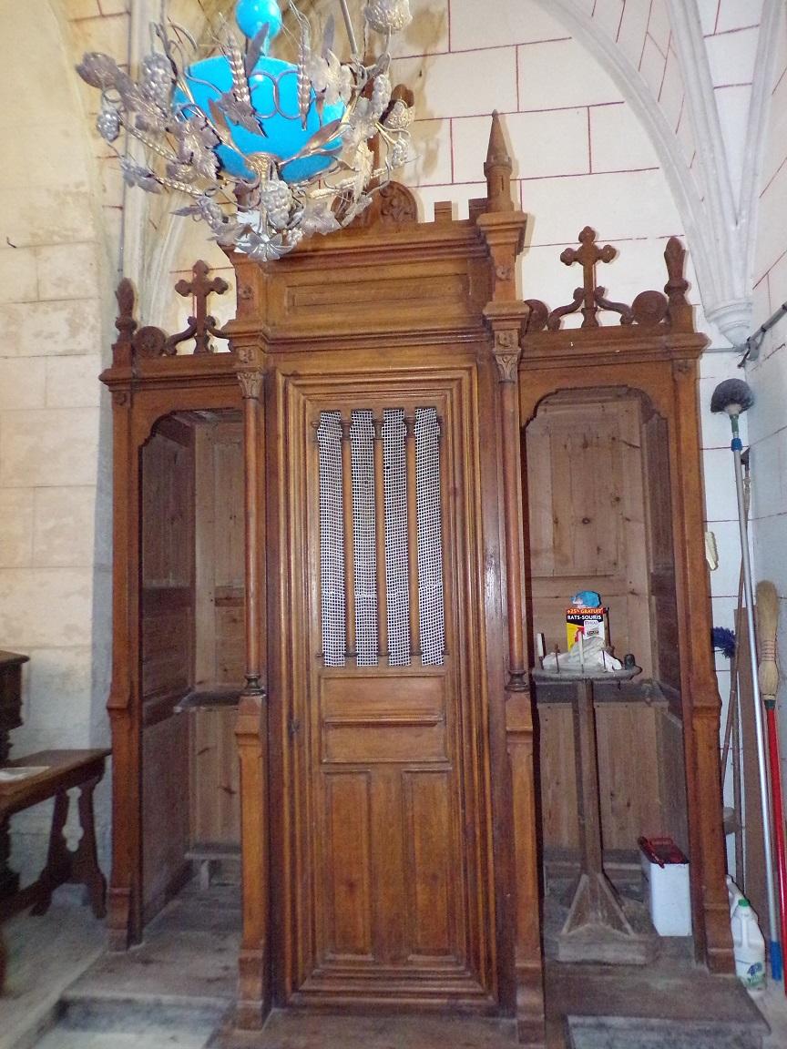 Mareuil - L'église Notre-Dame - Le confessionnal (21 août 2018)
