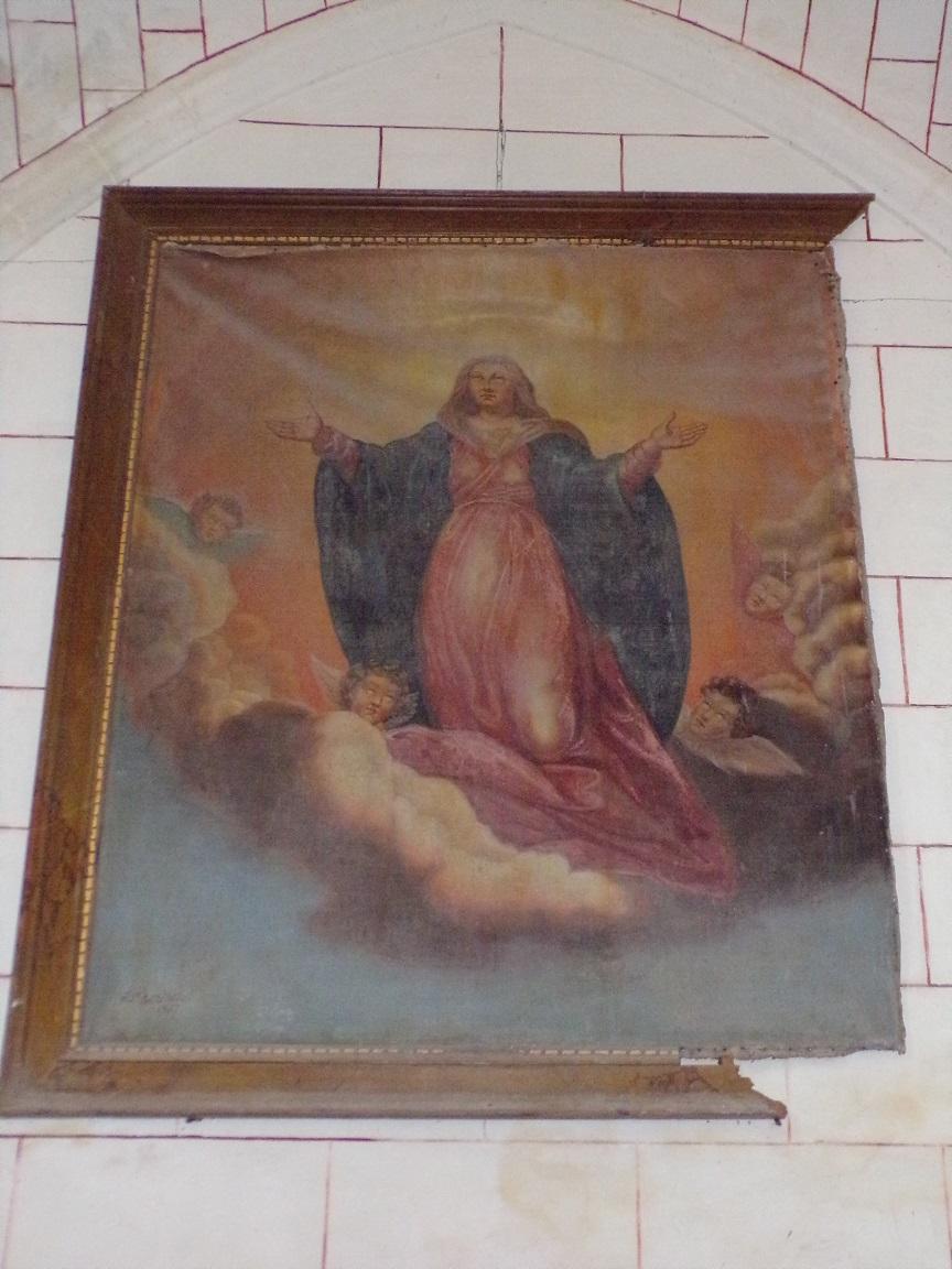 Mareuil - L'église Notre-Dame - Un tableau (21 août 2018)
