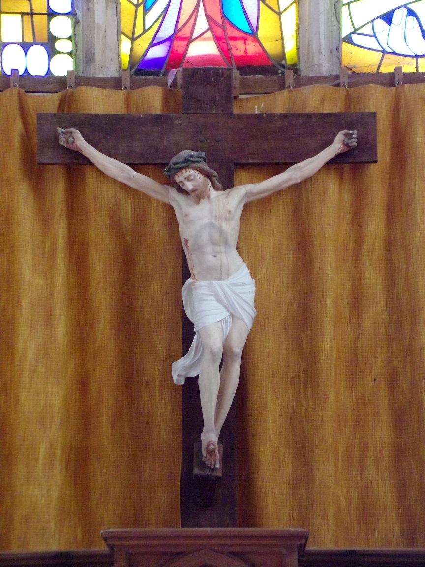 Mareuil - L'église Notre-Dame - Le Crucifix (21 août 2018)