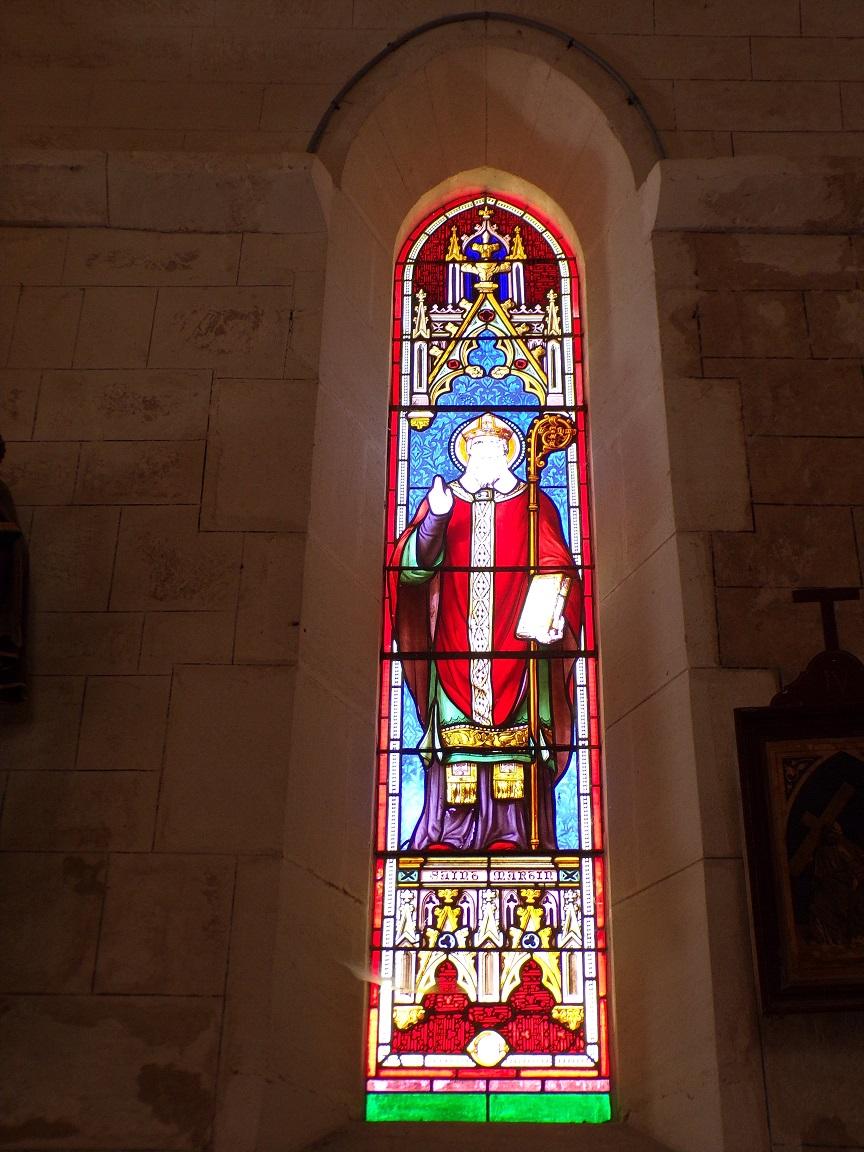 Mareuil - L'église Notre-Dame - Le vitrail 'Saint Martin' (21 août 2018)