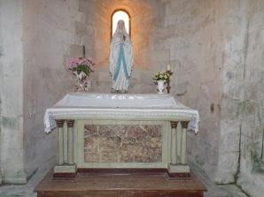 Matha - L'église Saint-Pierre de Marestay - La chapelle 'Notre Dame de Lourdes' (13 août 2018)