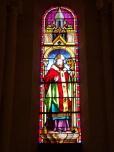 Merpins - L'église Saint-Rémy - Le vitrail 'Saint Rémy' (28 mai 2018)