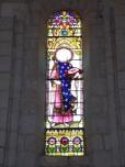 Merpins - L'église Saint-Rémy - Un vitrail (28 mai 2018)