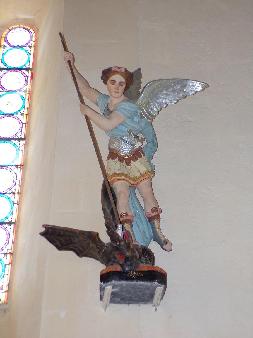 Mesnac - L'église Saint-Pierre - L'archange Saint-Michel (16 septembre 2018)