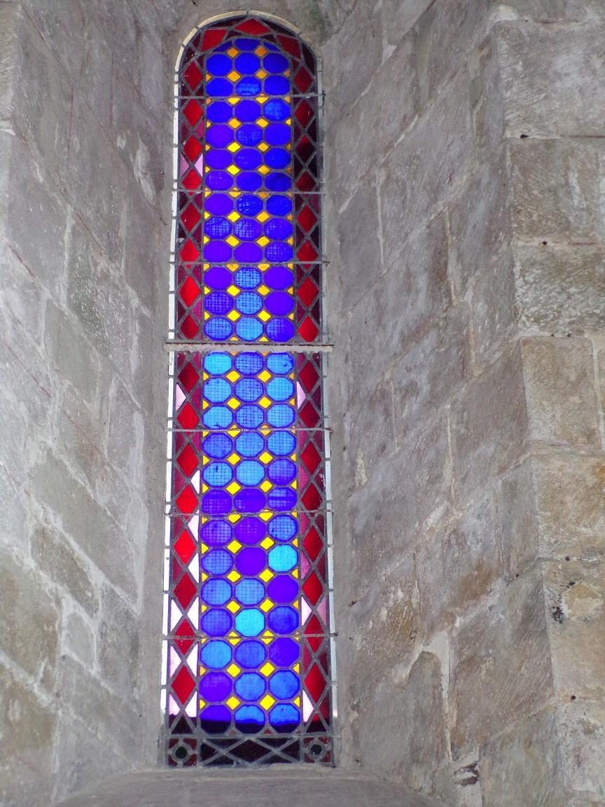 Migron - L'église Saint-Nazaire - Un vitrail (19 juin 2018)