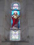 Migron - L'église Saint-Nazaire - Le vitrail 'Sacré Coeur de Jésus' (19 juin 2018)