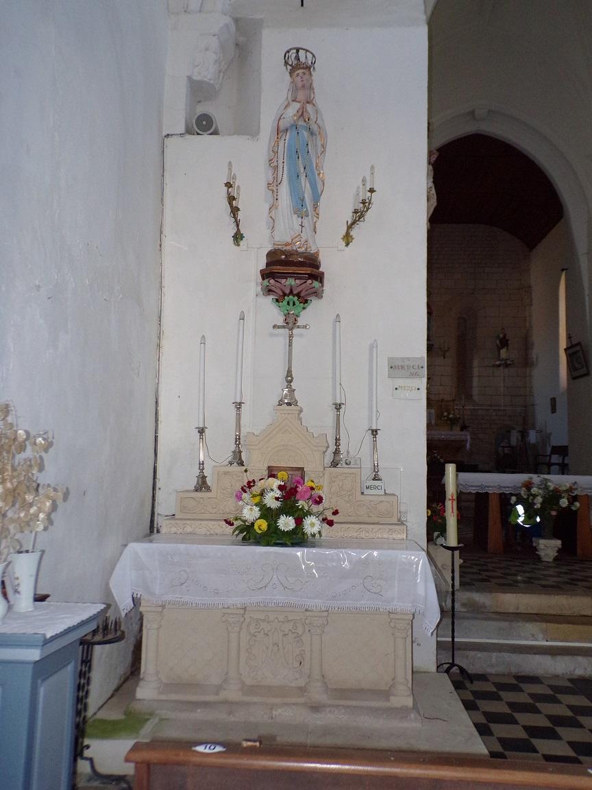 Montils - L'église Saint-Sulpice - Notre Dame de Lourdes (25 juin 2018)
