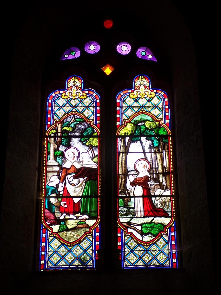 Neuvicq-le-Château - L'église Saint-Martin - Les vitraux 'L.V. Gesta Toulouse' (16 septembre 2018)