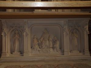 Neuvicq-le-Château - L'église Saint-Martin - Sous-bassement de la Vierge Marie et l'Enfant (16 septembre 2018)