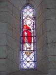 Neuvicq-le-Château - L'église Saint-Martin - Le vitrail 'Saint Joseph' (16 septembre 2018)