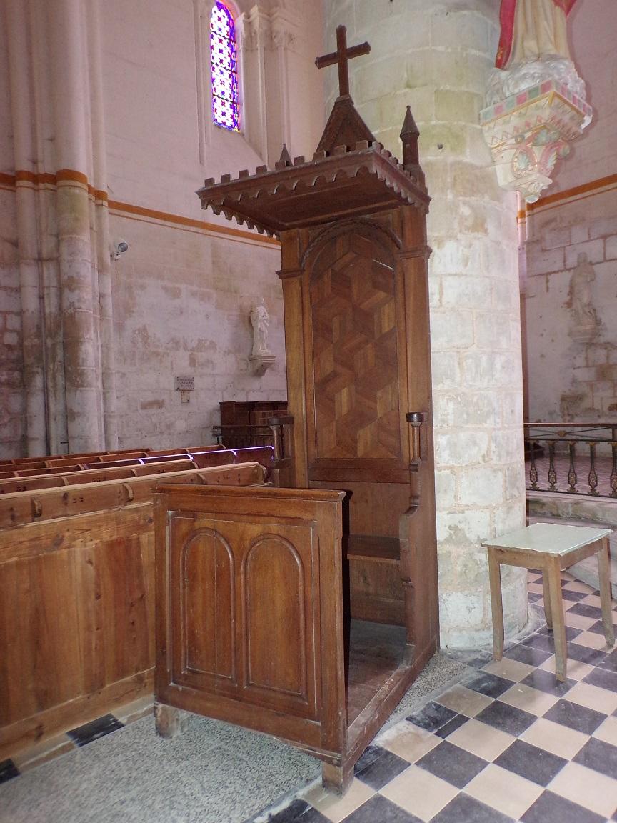 Pérignac - L'église Saint-Pierre - Une stalle (25 juin 2018)