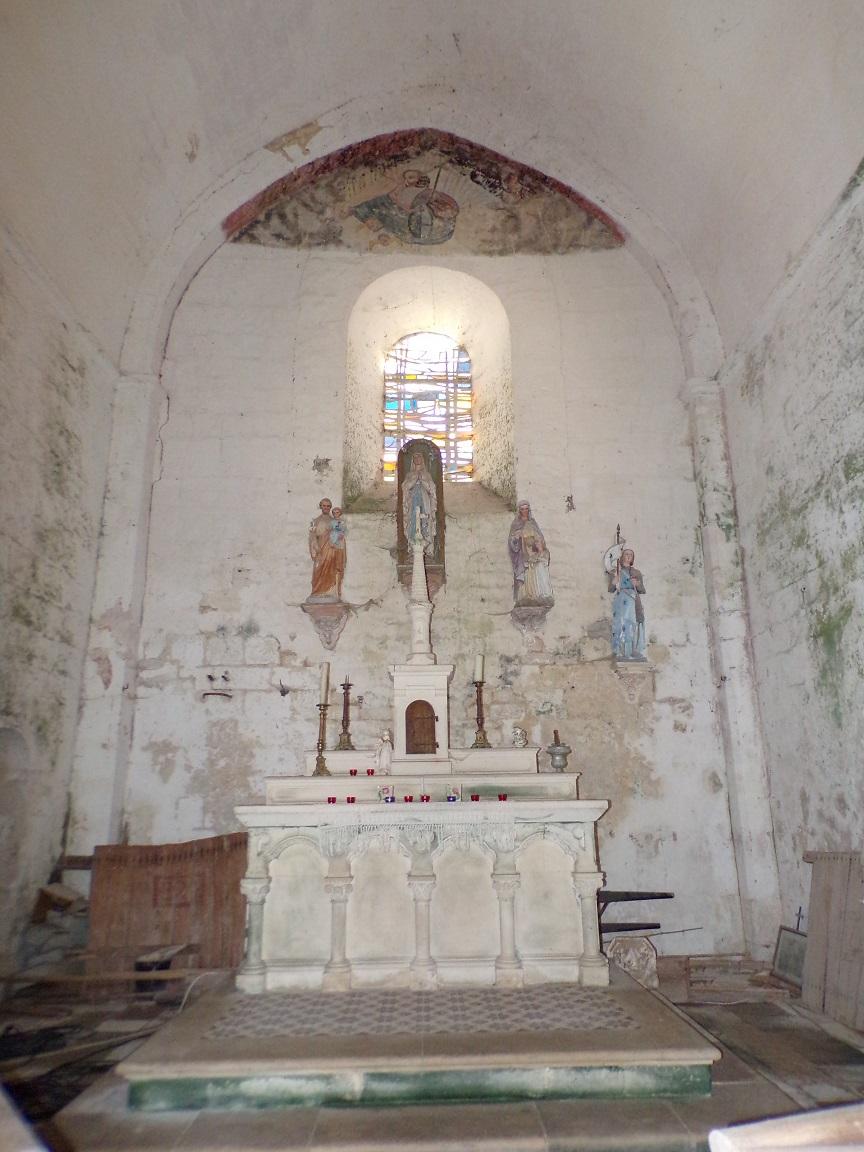 Plaizac - L'église Saint-Hippolyte - Le choeur (21 août 2018)