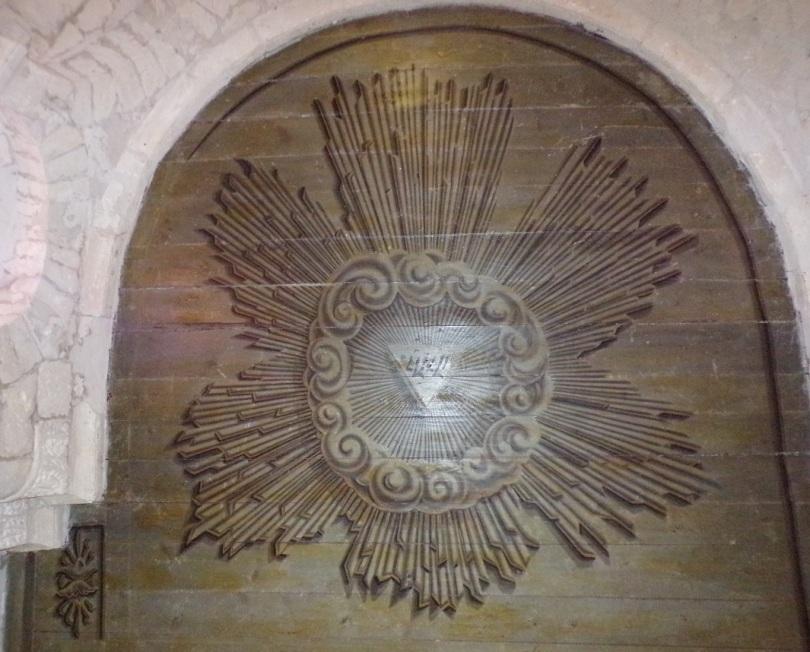 Rouffiac - L'église Saint-Vivien - Plafond du choeur (17 juillet 2018)