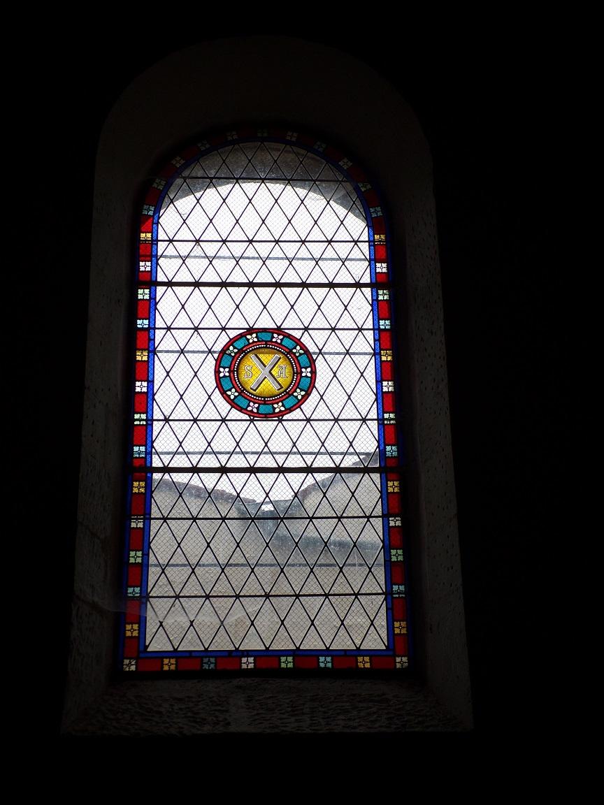 Saint-André - L'église Saint-André - Un vitrail (6 juin 2018)