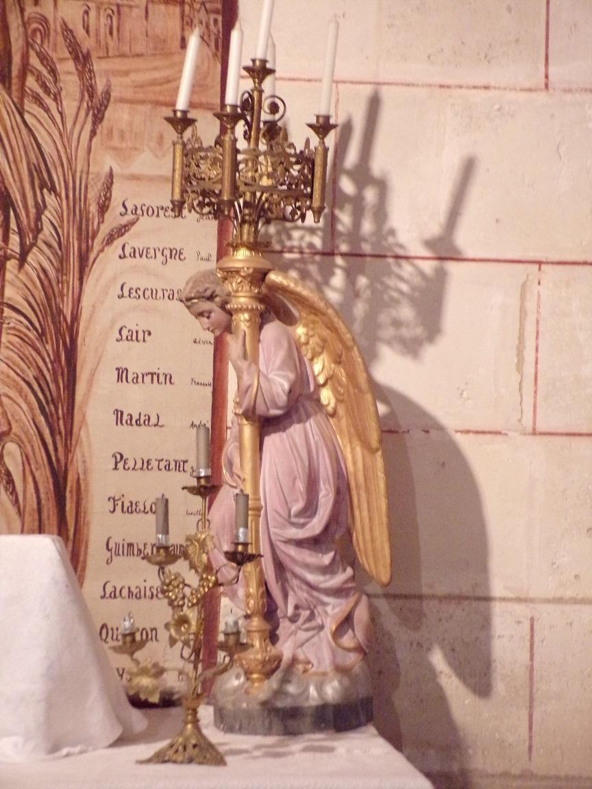Saint-Brice - L'église Saint-Brice - Un ange (25 juillet 2018)