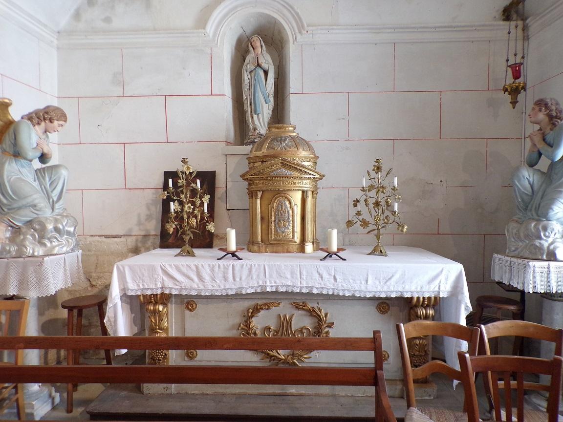 Saint-Brice - L'église Saint-Brice - La chapelle 'Notre Dame de Lourdes' (25 juillet 2018)